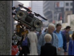 Johnny Five on the street