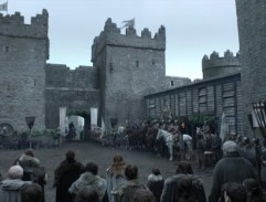 The courtyard of the castle Winterfell