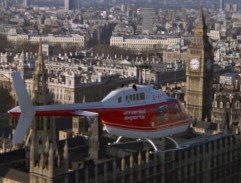 Fly over Westminster palace