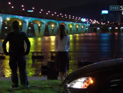 By the bridge at night